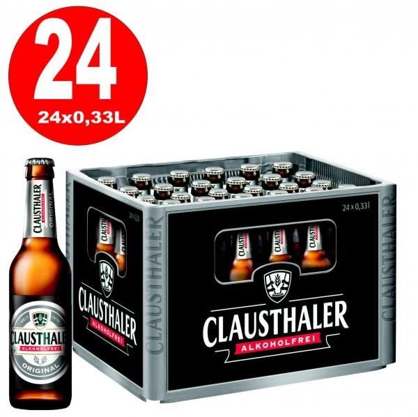 24 x Clausthaler Original SANS ALCOOL 0,33 L Boîte d'origine MULTI-VOIES