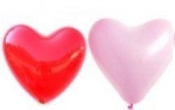 Ballons herzform 25 cm *Plaine