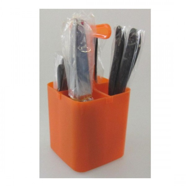 Couverts 17 pcs d'orange homme de la torche