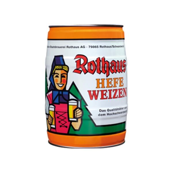Rothaus Hefeweizen 5 L 5.4% vol partyfass