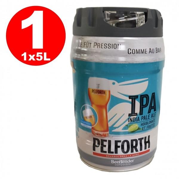 Pelforth IPA India Pale Ale Houblon et fruits Fût de 5 litres en fût 5.9% vol. jetable