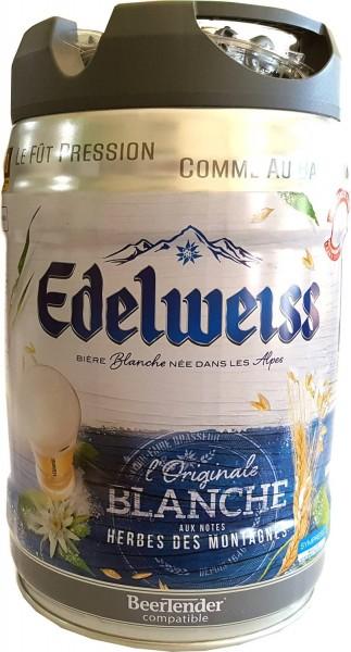 Edelweiss, blanche Fût de fête de 5 litres la bière blanche 5% vol des Alpes françaises