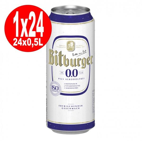 Bidons de 24x0,5L Bitburger Pilsener 0.0 SANS ALCOOL