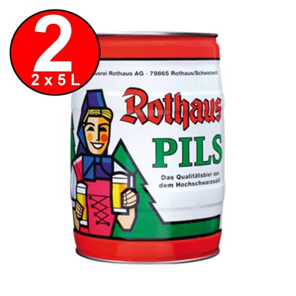 2 x Rothaus Pils 5 L Fut de bière Allemande 5.1% vol