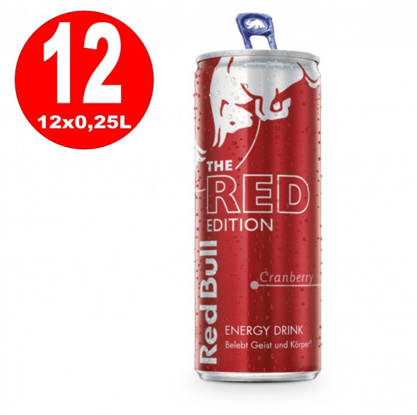 12 x Red Bull Édition rouge Energy Drink 250 ml Dosen_EINWEG