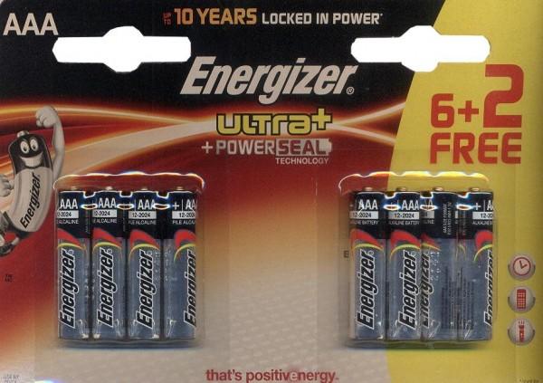 Energizer Ultra Alkaline LR03 AAA 8pièce