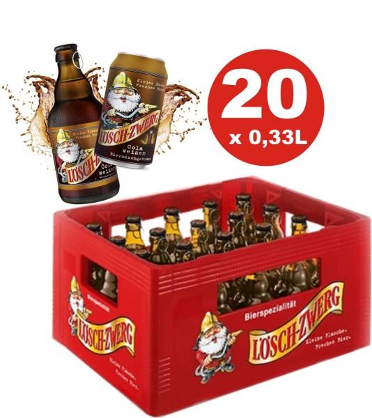 20 x Löschzwerg cola de blé 0.33l 2,8% vol.