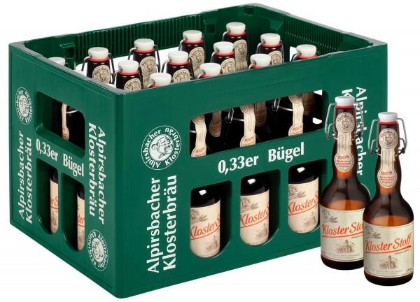 20 x Alpirsbacher Klosterbrau Kloster Tissu Märzenbier 0,33l 5,9% vol. affaire initiale