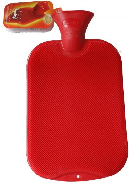 Bouteille d'eau chaude rouge 6442