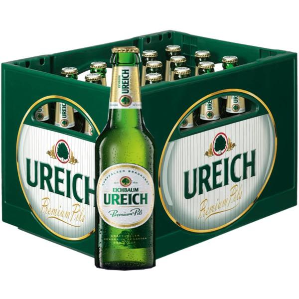 20 x Eichbaum Ureich Premium Pils 0.5l 4.9% vol. cas d'origine