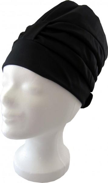 Dames de bonnet de bain piscine noir avec fermeture Velcro bouchon