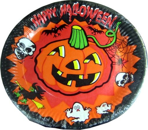 Content Pack 8 plaques en papier Halloween