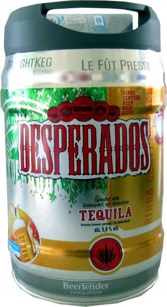 Desperados Fut de bière avec Tequila dans 5 litres keg incl. Spigot