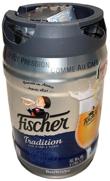 Fut de bière Allemande Fischer blond 5 litres 6,0% vol. avec robinet