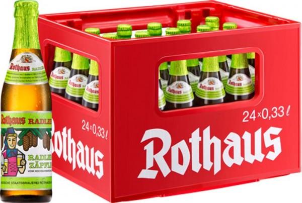 24 x Rothaus Radler Tannenzäpfle 0,33 L de 2,4% d'alcool