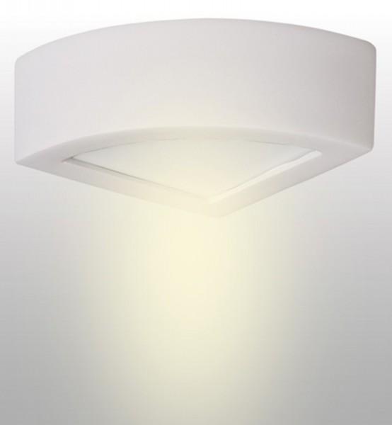 LAMPEX murale Atena 20 céramique blanche / verre 10 x 20 cm