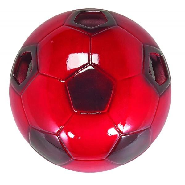 LAMPEX football murale rouge en céramique 28 x 28 cm