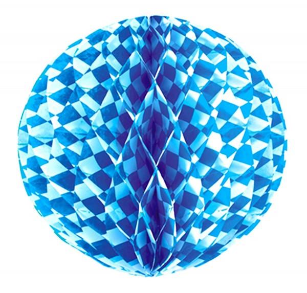Boule en nid d'abeille Ø 30 cm ignifuge bavarois bleu