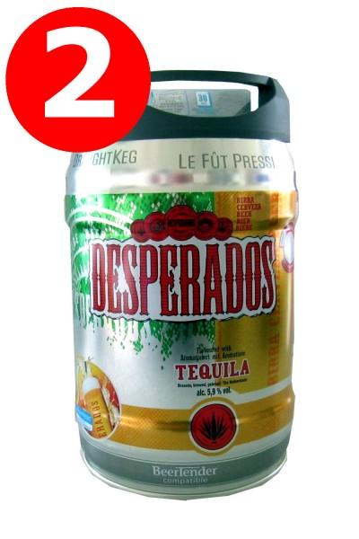 Desperados Bier mit Tequila Partyfass 5 Liter Fass inkl. Zapfhahn 5,9% vol.