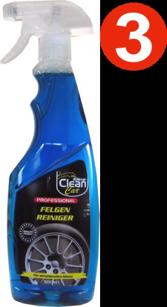 3 x Elina Professional Wheel Cleaner 500 ml flacon pulvérisateur