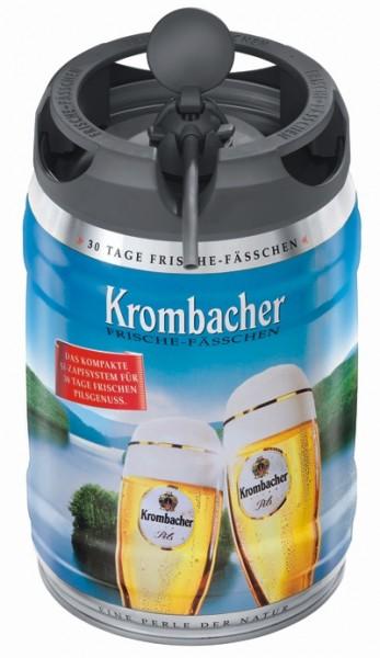 Krombacher Pils Fraîcheur Keg, Fut de bière Allemande, 5 litres 4.8% vol