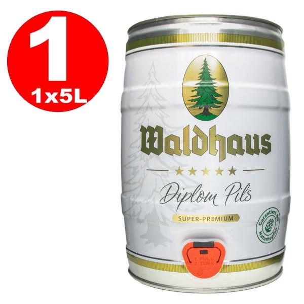 Diplome Waldhaus pils 5 litres de 4,9% vol. Fut de bière Allemande