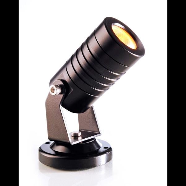 Kapego puissance LED Spot Mini Ambre 24V 3W 30 ° IP65