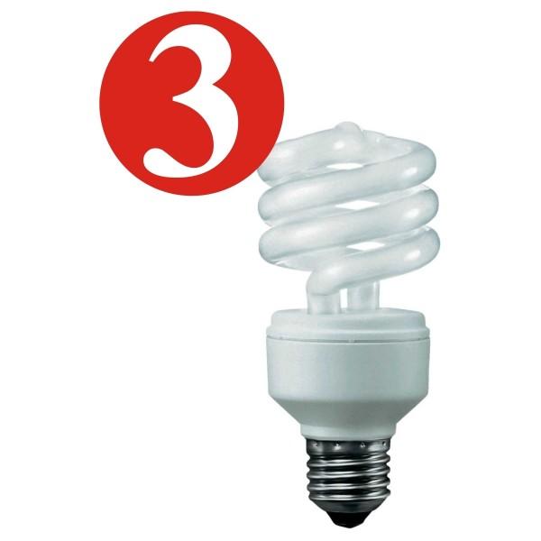 3x Osram lampe à économie d'énergie 13W E27 chaud Duluxstar Mini Twist Lumière