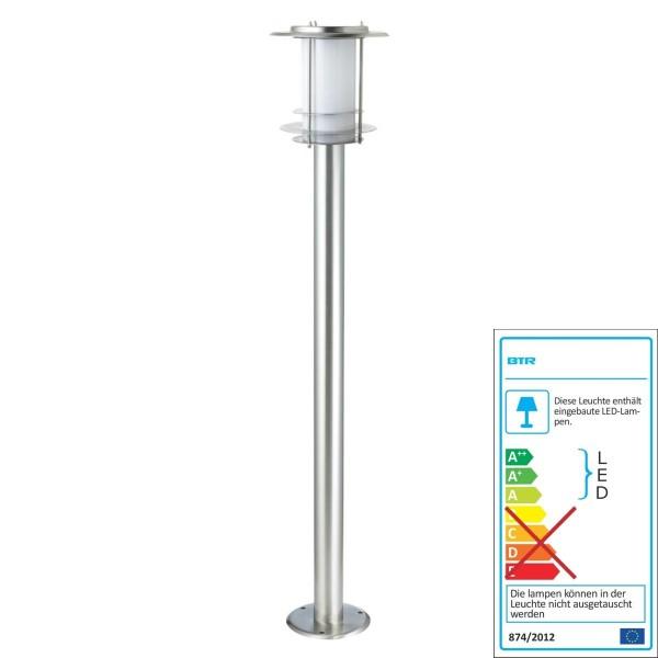 Un meilleur éclairage BUDAPEST SOLAIRE - BT1005 H1 SOLAR-8LED - acier / inox inoxydable