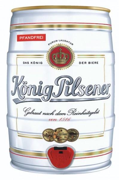Koenig King Pilsener 5 litres Fut de bière Allemande 4,9% vol