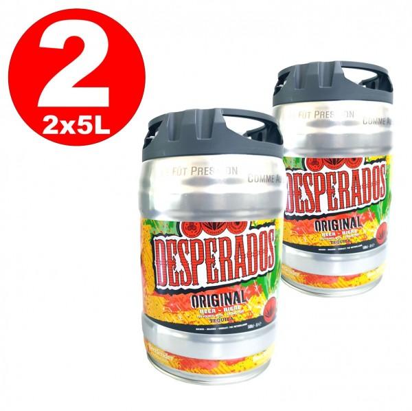 2 x Desperados Fut de bière avec Tequila dans 5 litres keg incl. Spigot
