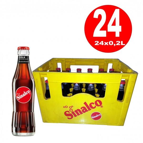 24 bouteilles de Sinalco Cola 0.2L Original Box Bidon MULTIWAY