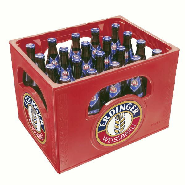 20 x Erdinger biere blanche sans alcool 0.5L cas d'origine Weissbier