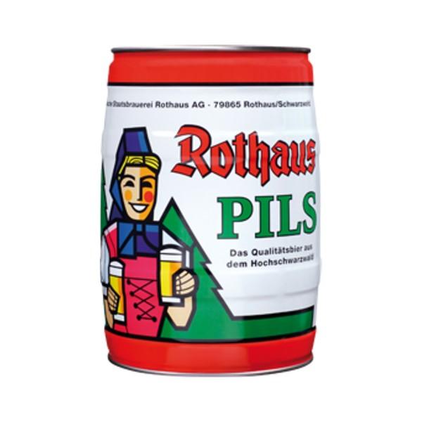 Fut de biere Rothaus Pils 5 L Parti encadré 5.1 vol%