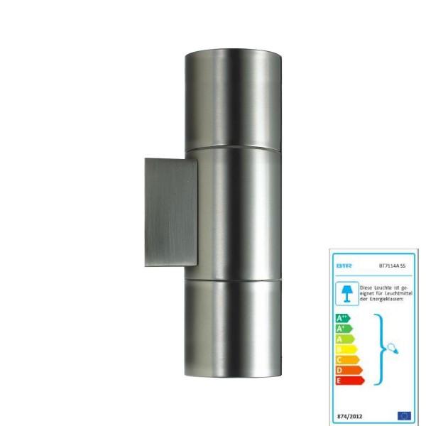 Un meilleur éclairage Lisboa - BT7114B SS - lampe de mur en acier inoxydable extérieur