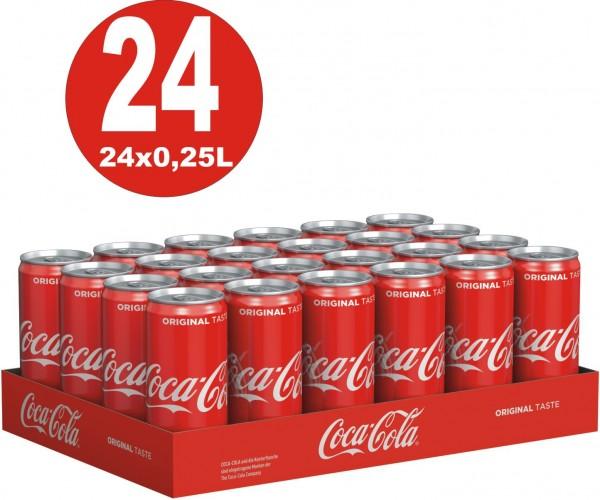 24 canettes Coca-Cola Classic 0.25L