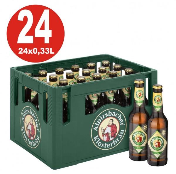 24 x Alpirsbacher Pils 0,33 Boîte d'origine 4,9% Vol. Alc