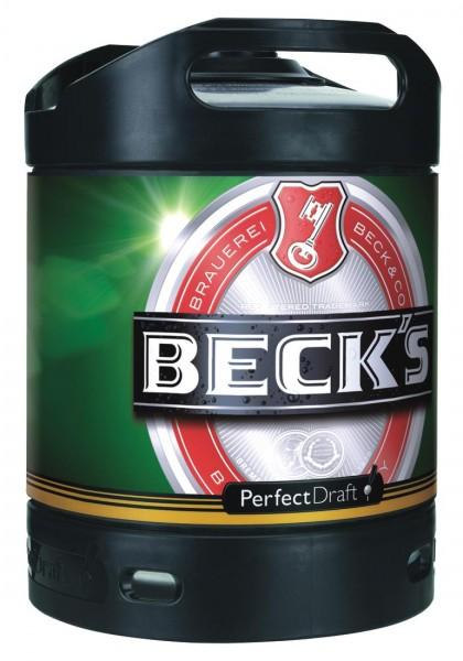 Becks Pils Perfect Draft 6 litres fût de bière 4,9% vol. f
