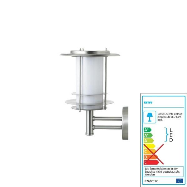 Un meilleur éclairage BUDAPEST SOLAIRE - inox / acier inoxydable - SOLAR BT1005UP-6 LED