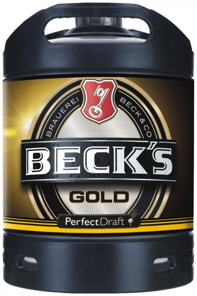 Fut de bière Becks gold Or Perfect Draft 6 litres 4,9% vol.