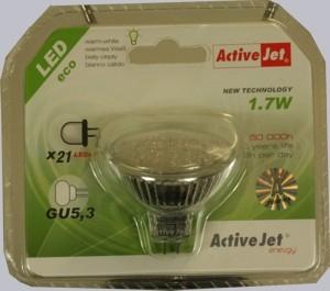 ActiveJet éconergétiques ampoule réchauffer blanc 1.7W GU 5,3