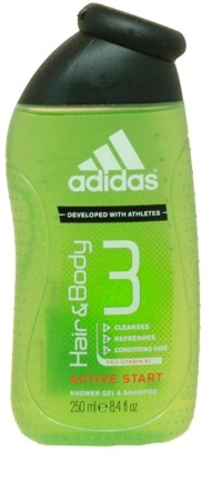 Adidas Cheveux et Corps active start gel douche 250ml