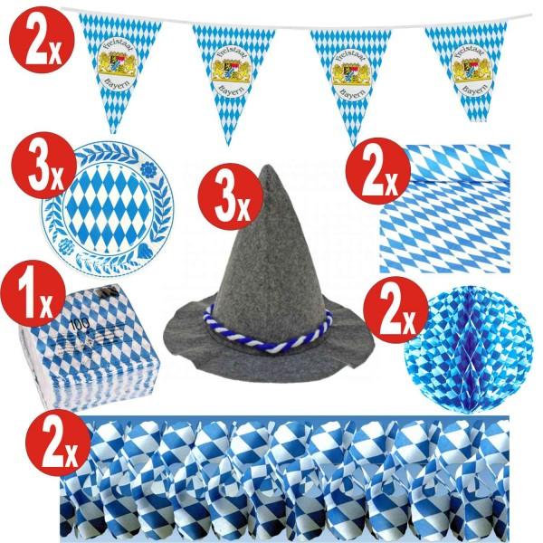 15 pièces décoration de l'Oktoberfest set_15 = 141 pièces