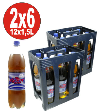 12 x Big Pump Energy Drink avec saveur gommeuse 1,5 litre - aller simple