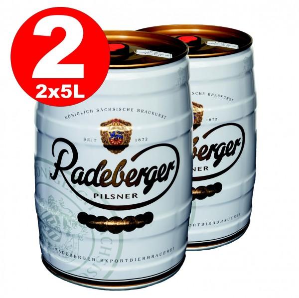 2 x Radeberger Pilsener 5 litres fût 4.8% vol - dépôt jetable