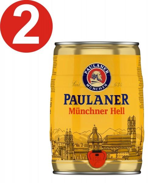 2 x Paulaner Münchner Enfer 5 litres d'box vol parti de 4,9%