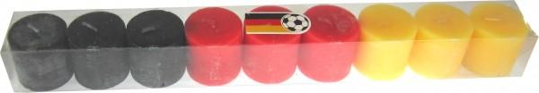 Allemagne bougies - chaque 3 noires, 3 rouges et 3 bougies jaunes
