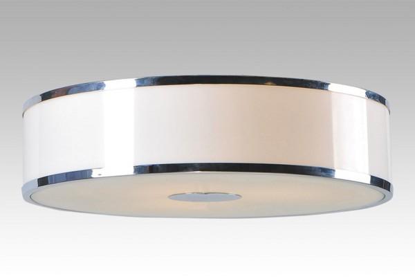LAMPEX plafond Della 3P métal / verre / PVC 7 x 40,5 cm