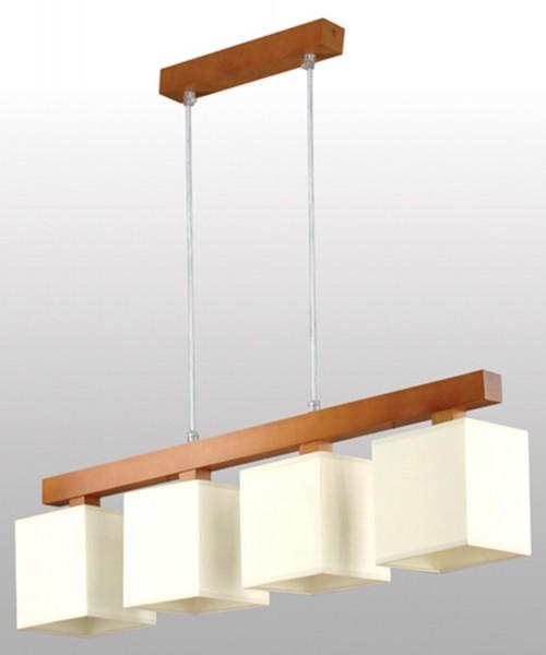 LAMPEX lampe suspension Arbor 4 bois / abat-jour PVC max 90 x 74 cm