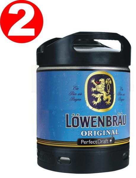 2 x Fut de biere Loewenbraeu Projet original parfait 6 litres tambour 5,2% vol